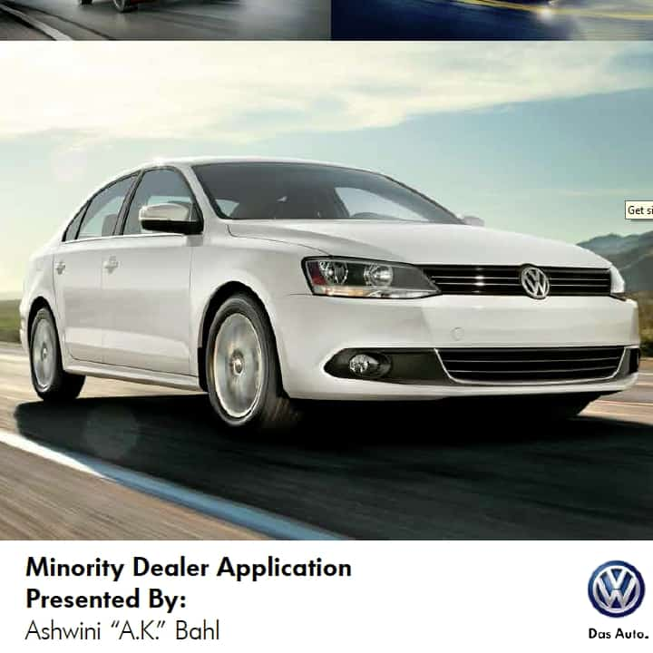 Volkswagen Minority Dealer Application